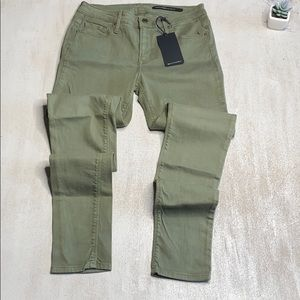 BLACK ORCHID Army Green Skinny Jeans 27